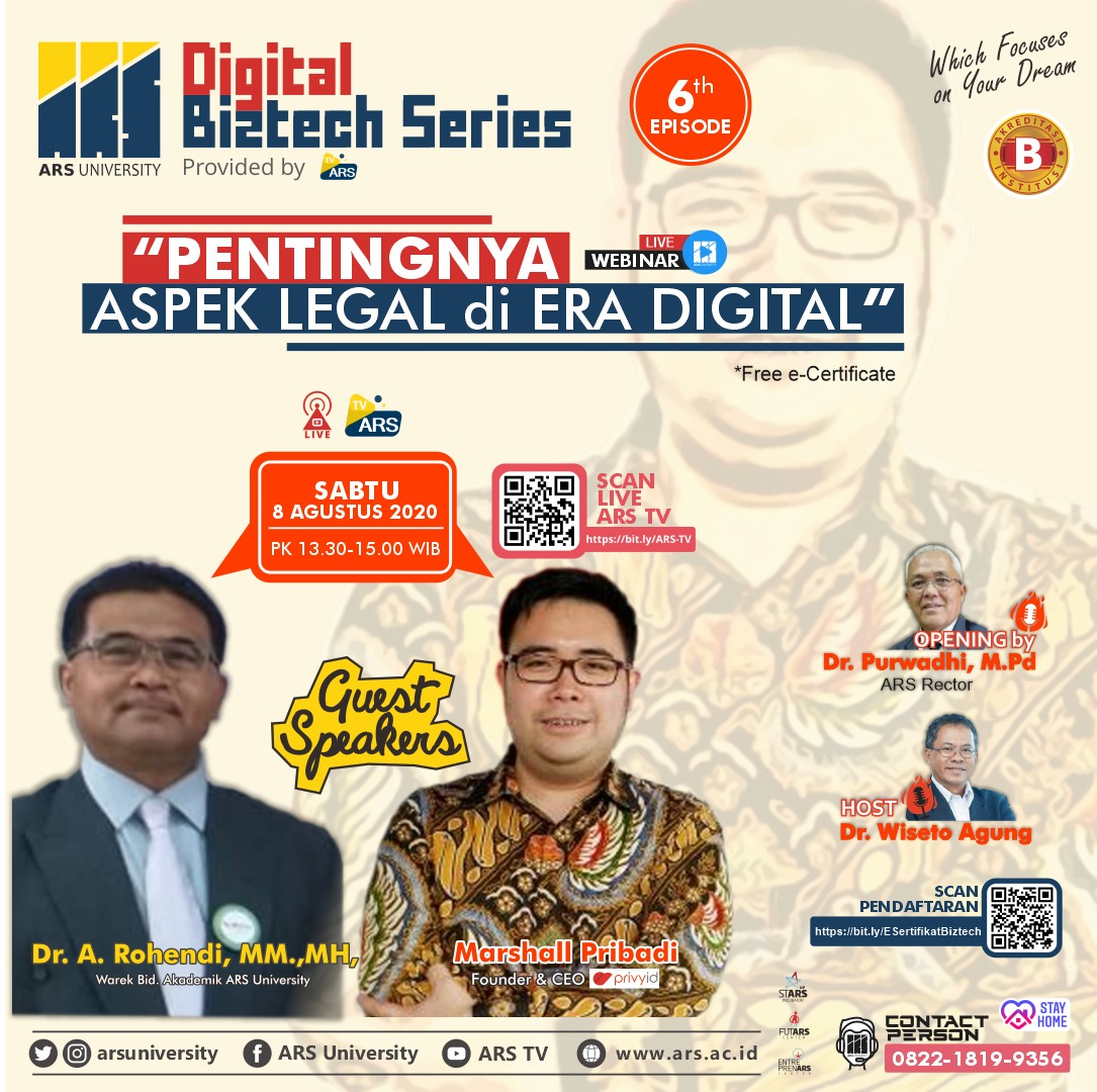 """Pentingnya aspek Legal di era Digital 2020"""